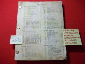 KIEKHAEFER MERCURY OUTBOARD MASTER DEALER SERVICE MANUAL ALL MODELS UP TO 1955