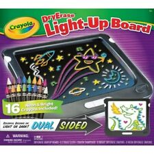 Crayola Dry Erase Light-Up Board NIB 16 Neon Crayons Dual Sided Light or Dark
