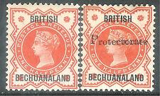 Bechuanaland 1888/90 vermilion 1/2d ovtp T2 vermilion 1/2d ovtp T16 mint SG9/54
