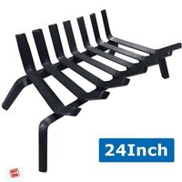 "Fireplace Log Grate Rack Holder 24"" Fireplace Tool Wide Heavy Duty Solid Steel"
