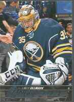 15-16 ud young guns LINUS ULLMARK rc #472 BUFFALO SABRES free combined shipping