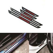 4Pcs Dodge  Carbon Fiber Car Door Welcome Plate Sill Scuff Cover Decal Sticker