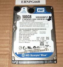 """Western Digital WD5000BPVT-75HXZT3 FW T3 DP//N:0P4HC 500GB 2.5/"""" SATA Hard Drive"""