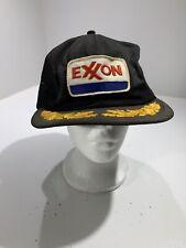 Vintage Exxon Snapback K Products Scrabbled Eggs Trucker Hat Oil Gas Energy Blk