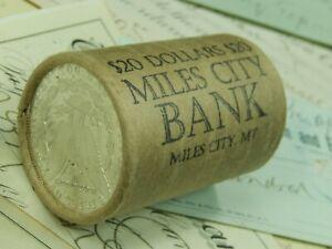 $20 MORGAN PEACE SILVER DOLLAR ROLL 20X DOLLARS COIN ROLL LOT #03