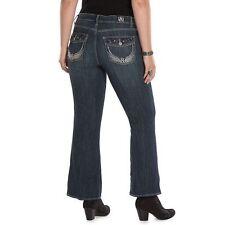 Rock & Republic Women's Size 24W Short Kasandra Embellished Bootcut Jeans