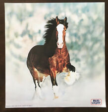 vintage 1983 Anheuser Busch Budweiser Clydesdale Running 50th anniversary poster