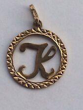 Anhänger rund mit Buchstaben K Gold 333 Gelbgold 8K