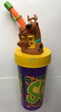 Tumbler 12oz 3D Scooby Doo Topper Cap & Straw NEW GC