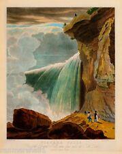 Niagara Falls - Under Table Rock Canadian Canada Travel Advertisement Poster