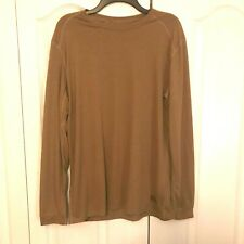 XGO Flame Resistant Long Sleeve T-Shirt Size: Medium  Color: Brown