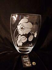 Valentines day gift Vase Elegant  with Swarovski Crystal & Sandblasted present