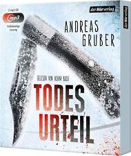 ANDREAS GRUBER - ACHIM BUCH - TODESURTEIL - UNGEKÜRZTE AUSGABE  2 MP3 CD NEU