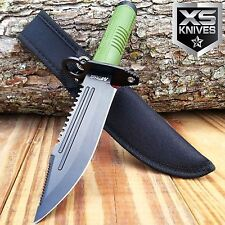 "11"" MTECH Tactical Hunting Combat Fixed Blade Knife Army Bowie W/ Survival Kit"