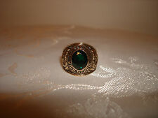 VTG BALFOUR 1974 WHITING HIGH SCHOOL SIGNET RING GREEN STONE 10K SOLID GOLD 8.5