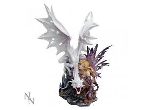AARYA DRAGON GUARDIAN Extra Large 59cm Arya Fairy Figurine Nemesis Now FREE P+P