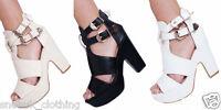 New Womens High Wedge Heel Platform Sandals Peep Toe Ankle Strap Summer Shoes