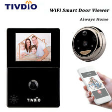 "TIVDIO WiFi 2.8""OLED HD Screen Monitor Door Peephole Viewer Camera Doorbell WEP"