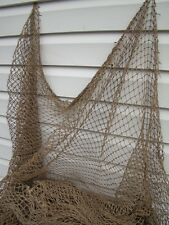 Authentic Fishing Net ~ 10' x 10' ~ Vintage Fish Netting ~ Nautical Decor