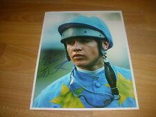 Jason weaver horse racing jockey 27/06/94 original main Photo de presse signé