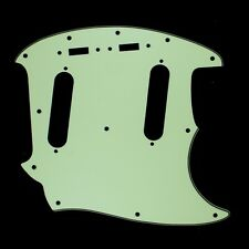 (E31) Guitar Pickguard Fits Mustang Classic Series ,3Ply Vintage Green