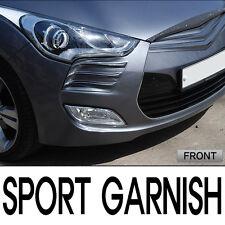 Front Head Lamp Sports Garnish Molding Matte Black For 11 12 13 Hyundai Veloster