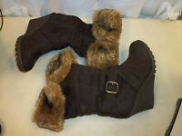 XOXO New Womens Olivia Brown Wedge Boots 5 M Shoes