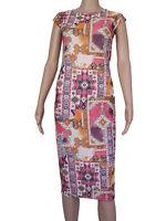 High Rose womens Size S M L  multi colour midi dress