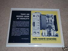 Audio Research SP-3 Preamp Ad,Cover Off!Tubes,RARE 1975