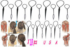 Lots x 18 Pcs New Topsy Tail Hair Braid Ponytail Maker Styling Tool