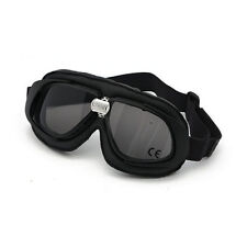 BANDIT Classic Goggle, Smoked lente, moto occhiali, cuoio, Black, per jethelme