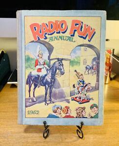 Vintage RADIO FUN ANNUAL 1952 (Hardback Book Amalgamated Press) Askey Fields 50s