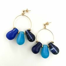 Love Drop Earrings in Blue