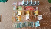 Banknoten Sammlung Schweiz, England, Cayman Islands 20 Banknoten