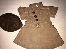 Doll Terri Lee Clothing Early Loopy Tag Brownie Uniform Complete Outfit 1950's
