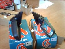 Pair Wing mirror Peugeot 405  RHS LHS electric heated . 1988 - 96 Chrome trim
