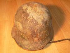 Stahlhelm, Wehrmacht, SS, M40, steel helmet, sawdust camo, Sägespäne tarn