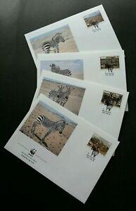 [SJ] Namibia WWF Zebra 1991 Wildlife Animal Fauna (FDC) *see scan