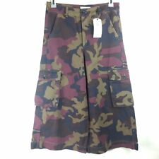 Wesc Camouflage Hazy Red Port Size Small Cargo Pants Sweden