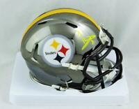 Ben Roethlisberger Signed Pittsburgh Steelers Chrome Mini Helmet - Fanatics Auth
