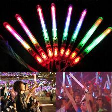 30Pcs Led Glow Flashing Wand Rainbow Light Up Sticks Party Concert Prom Blinking