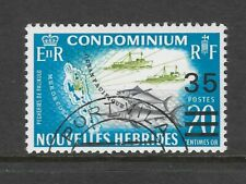 NEW HEBRIDES (French) 1970 OCEAN FISHING 35c on 20c Fish Ships Map 1v USED