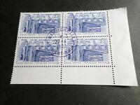FRANCE BLOC timbres 2471 EUROPA CEPT, oblitéré 1987 cachet rond, QUARTINA