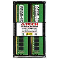 A-Tech 32GB 2x 16GB PC4-17000 Desktop DDR4 2133 MHz DIMM 288-Pin 2Rx8 Memory RAM