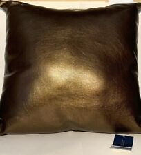 "Hallmart Collectibles (Hmc) Faux Leather 18"" Decorative Pillow- Brown"