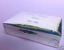 Dose Zierdose Deckeldose 900er Silber Florentino Botschaft Bogota Werz Kolumbien