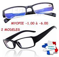 Lunettes Myopie Myope Myopathie -1.00 à -6.00 Loupe De vue Homme Femme Mixte