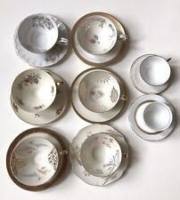Konvolut 8 Alte Porzellan Tassen mit Untertassen verschiedene Marken Top