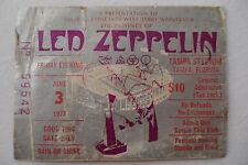 Led Zeppelin 1977 Original_Concert Ticket Stub_*Riot Show*_Tampa, Fl_Vg+