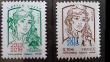 """Rare!!  Marianne 0,10€ et Lettre Verte surchargés """"2013-2018""""  Philex 2018 Neufs"""